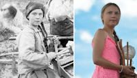 People think Greta Thunberg is a time-traveller thanks to this old photo