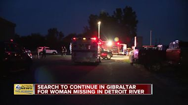 Search to continue in Gibraltar for woman missing in Detroit River