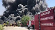Massive flames engulf junkyard in southeast Turkey