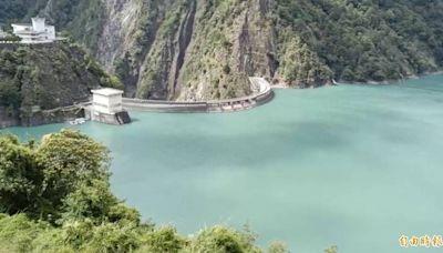 德基水庫水位上升到1405.7公尺 今年最高水位