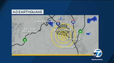 Wildomar earthquake: 4.0-magnitude quake felt in Inland Empire, Orange County