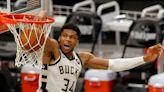 Giannis Antetokounmpo leads Milwaukee Bucks to series-tying win against Brooklyn Nets