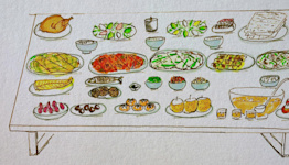 An illustrated guide to making scallion pancakes and more for Chuseok