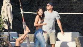 Leonardo DiCaprio and Girlfriend Camila Morrone Hit the Beach to Play Volleyball