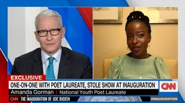 Amanda Gorman: CNN's Anderson Cooper left speechless in interview with inauguration poet