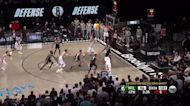 Khris Middleton with a 3-pointer vs the Brooklyn Nets