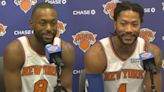 Kemba Walker, Derrick Rose excited to be teammates and help Knicks contend | Knicks News Conference