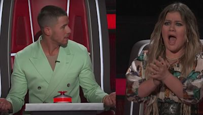 """Kelly Clarkson and 'Voice' Fans Are Calling Out Nick Jonas for """"Really Messing Up"""""""