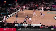 James Harden with a 3-pointer vs the Minnesota Timberwolves