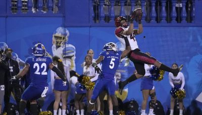 No. 24 San Diego St. outlasts San Jose St. 19-13 in 2 OTs