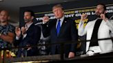 Donald Trump (mostly) stuck to sports during Triller boxing commentary stint