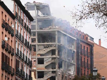 Madrid explosion: Four dead after huge blast rips through building