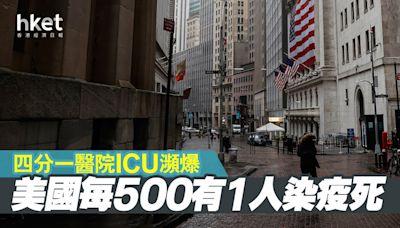 【美國疫情】每500有1人染疫死 四分一醫院ICU瀕爆 - 香港經濟日報 - 即時新聞頻道 - 國際形勢 - 環球社會熱點