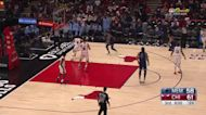 Tyus Jones with a 2-pointer vs the Chicago Bulls
