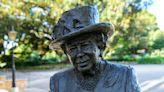Queen Elizabeth II jokes about likeness of a new statue of herself in Australia via video call