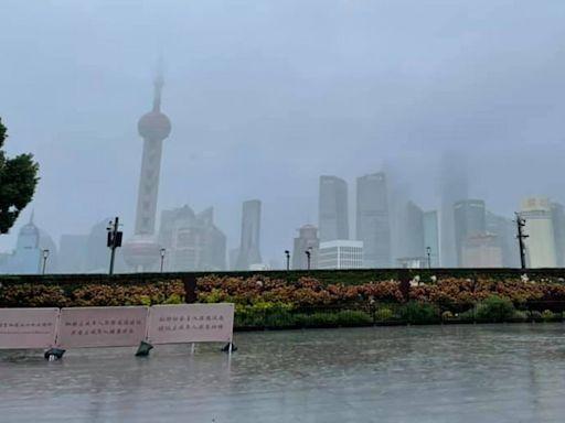 颱風璨樹帶來大雨 上海交通與觀光景點都受影響