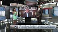 MJ Acosta-Ruiz reveals various mock-draft projections for Pats
