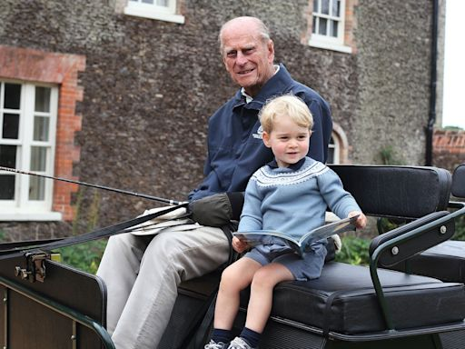 Prince William Shares Never-Before-Seen Photo of Prince George and Prince Philip: 'I Will Miss My Grandpa'