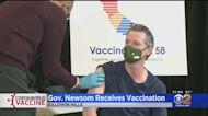 Calif. Gov. Gavin Newsom Receives Johnson & Johnson Vaccine In Baldwin Hills