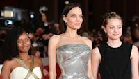 Angelina Jolie Dazzles on 'Eternals' Red Carpet with Daughters Zahara & Shiloh at Rome Premiere