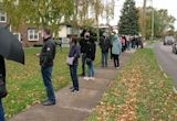 Long lines for early voting in Niagara Falls