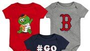 Newborn & Infant Navy/Red/Gray Boston Red Sox Born To Win 3-Pack Bodysuit Set