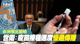 【新冠疫苗】世衛:接種速度慢過傳播 非洲情況嚴峻 - 香港經濟日報 - 即時新聞頻道 - 國際形勢 - 環球社會熱點
