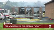 Fire engulfs boat, RV storage facility in Whitewater Twp.