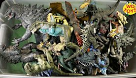 Giant Box Of Godzilla Surprise Toys 50 Gallon Action Figures Godzilla Vs Kong Unboxing WD Toys