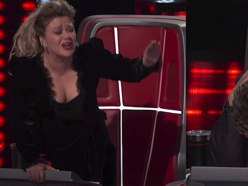 'The Voice' Star Kelly Clarkson Lost It After Blake Shelton Got Called Out on Air