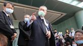 日本前首相森喜朗離台前受訪 (圖)