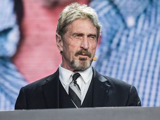 John McAfee's Instagram account was deleted after it posted the letter Q following his suicide in jail