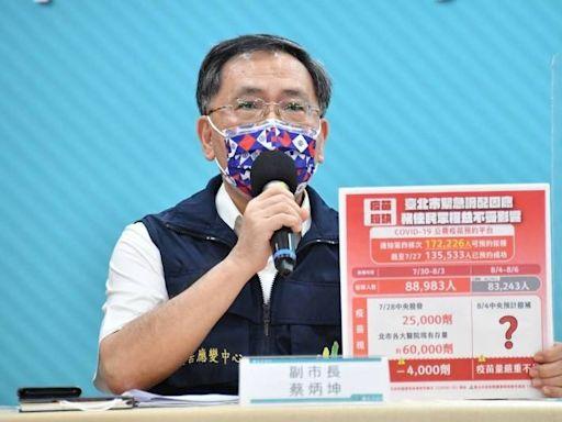 高雄長者可打第2劑? 台北市副市長蔡炳坤:很訝異疫苗哪來