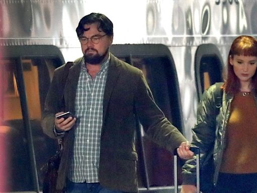 Leonardo DiCaprio and Jennifer Lawrence Look Unrecognizable on Set of New Movie - Pics