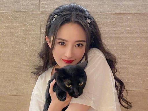 楊冪遮擋鏡頭不願意曝光女兒,但劉愷威抱著女兒直面鏡頭
