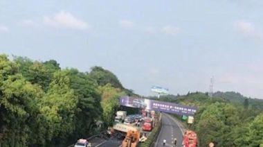 重型貨車連撼私家車及長途巴 釀6死28傷
