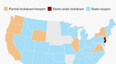 An interactive map of the US cities and states still under lockdown — and those that are reopening