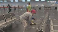 咳嗽浙江台商搭車處 台中航空站加強消毒