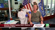 Gov. Newsom gets flu shot during press conference