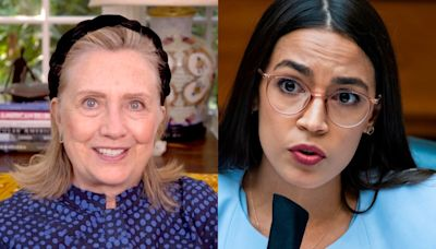 Hillary Clinton and AOC back opposing candidates in Ohio