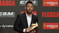 Barca's Messi receives record sixth European Golden Shoe