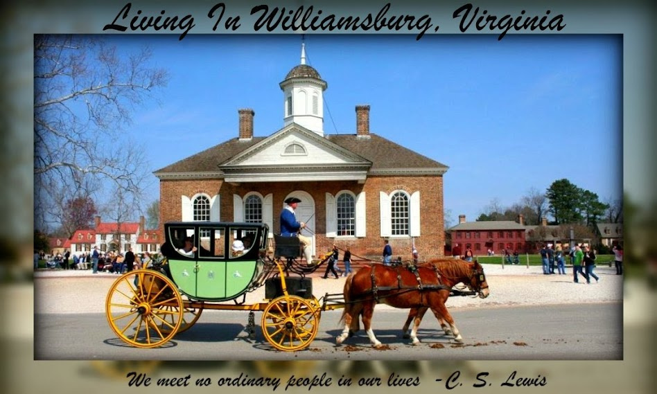 Welcome to a daily peek at our beautiful Williamsburg, Virginia which ...