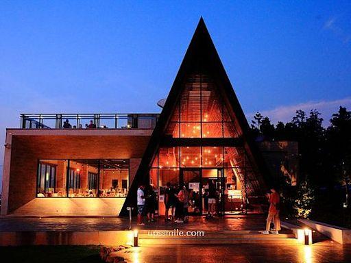 台中夜景熱點!三角玻璃咖啡屋賞浪漫漸層夕陽 還能吃窯烤披薩