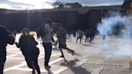 Clashes as Thousands of Protesters March in Colombia