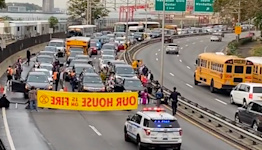 Climate Activists Block Major Roads in New York City