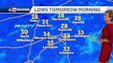 WATCH: AM Freeze Friday, wet Saturday