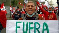 Peru protesters rally against Pedro Castillo's new government