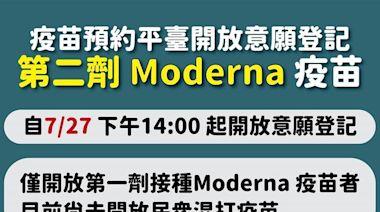 第二劑莫德納即起開放登記 僅限第一劑接種莫德納者