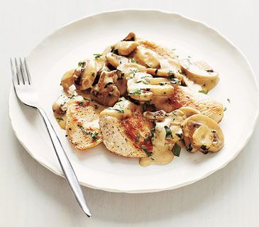 Chicken With Creamy Mushrooms Going to try with coconut milk vs cream