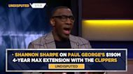 Shannon Sharpe: Paul George's $190M extension makes sense for PG, but not for Clippers | UNDISPUTED